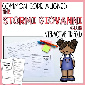 The Stormi Giovanni Club Trifold Worksheet (5th Gr. Reading Street 2011 Edition)