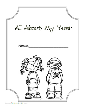 All About My Year - End of year Memory Keepsake Book