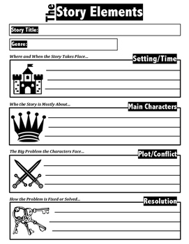 The Story Elements - Graphic Organizer