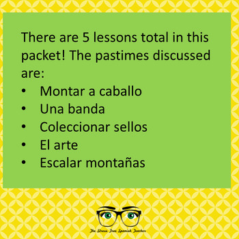 """Spanish Pastimes PACKET of """"mad libs"""" type games! Spanish parts of speech"""