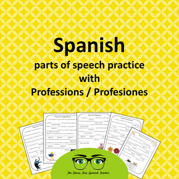 """Spanish Professions PACKET, word games like """"mad libs"""""""