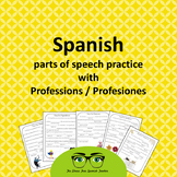 Spanish Professions PACKET, word games, parts of speech