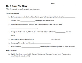 The Story Quizzes