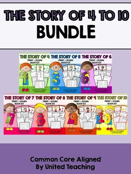 The Story of 4 to 10 Print + Learn Math Kits Bundle