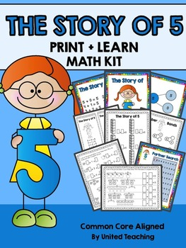 The Story of 5 Print + Learn Math Kit