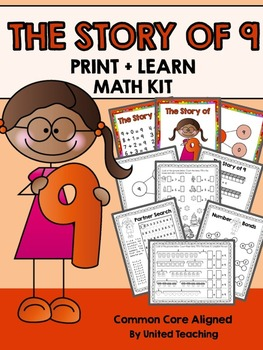 The Story of 9 Print + Learn Math Kit