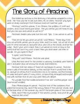 The Story of Arachne The Weaver Socratic Seminar Lesson Plan