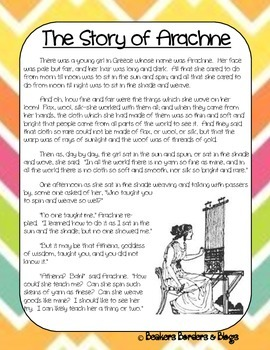 The Story of Arachne The Weaver Socratic Seminar Lesson Plan