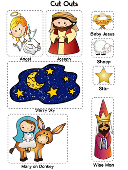 The Story of Baby Jesus, Christmas Story for Kids Lesson and Art Activities