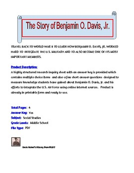 The Story of Benjamin O. Davis, Jr.