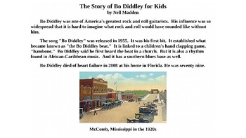 The Story of Bo Diddley for Kids PowerPoint