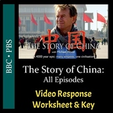 The Story of China - All Episodes - Video Worksheets and Keys Bundle (Editable)