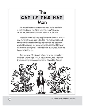 The Story of Dr. Seuss: Reading and Rhyming Comprehension for Grades 1–3