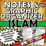 The Story of Early Islam, The Five Pillars, One Pager Notes & Graphic Organizer