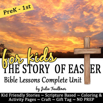 Easter Bible NO PREP Stories, Coloring, Craft, Religious Lessons, FREE Gift Tag