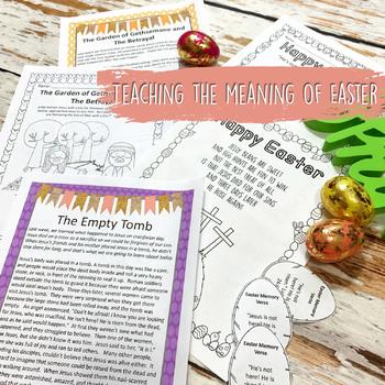 Easter Bible Lessons, Complete Unit for Preschool-Kindergarten