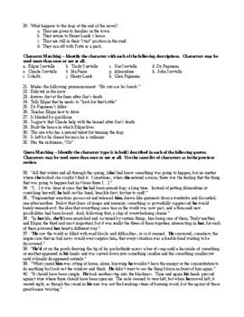 The Story of Edgar Sawtelle Test