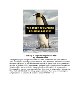 The Story of Emperor Penguins for Kids