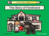 The Story of Ferdinand ~ 50 pgs. Common Core Activities