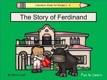 The Story of Ferdinand ~ 40 pgs. Common Core Activities