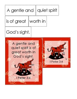 The Story of Ferdinand Bible Verse Printable (1 Peter 3:4)