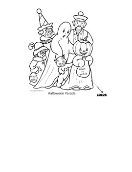 The Story of Halloween questions and coloring