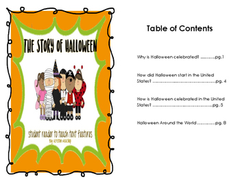 The Story of Halloween student reader with text features
