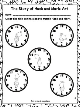 Activities about Telling Time to the Half Hour Part 2