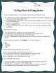 """The Story of Keesh"" Close Reading Worksheet for Code-X Unit 2"