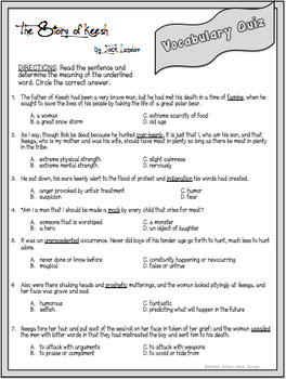 The Story of Keesh Differentiated Comprehension Unit