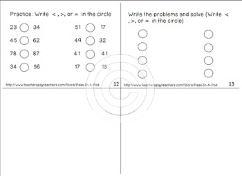 Place Value Story for first grade, 1st grade