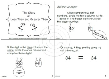 Place Value Book | Place Value for 1st grade | greater than less than 1st grade