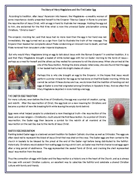 The Story of Mary Magdalene and the First Easter Egg - Reading Comprehension