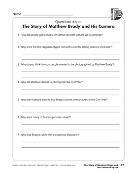The Story of Matthew Brady and His Camera