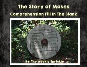 The Story of Moses Fill in the Blank