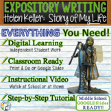 The Story of My Life  Helen Keller - Text Dependent Analysis Expository Writing