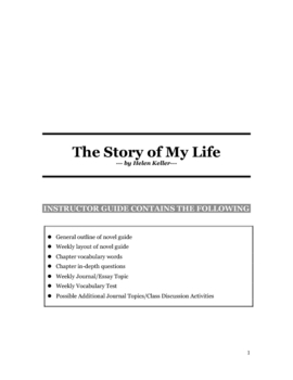 The Story of My Life by Helen Keller Novel Guide