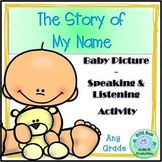 The Story of My Name Family Project Bulletin Board Speaking & Listening Activity
