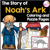 The Story of Noah's Ark - Coloring and Puzzle Pages