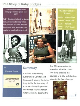 The Story of Ruby Bridges CCSS ELA Unit