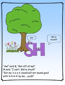 Digraph Stories for Kids:  SH
