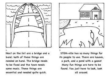 The Story of STEM-ville a book to introduce engineering