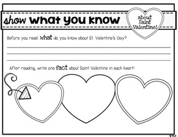 The Story of Saint Valentine e-book, flipbook, and comprehension!