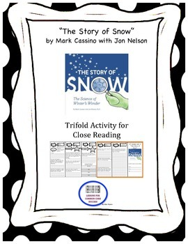 """The Story of Snow"" Trifold Activity McGraw Hill Reading Wonders 5th Grade"