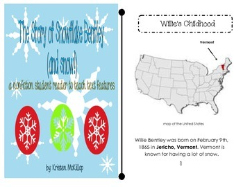 The Story of Snowflake Bentley (and snow!) nonfiction student reader