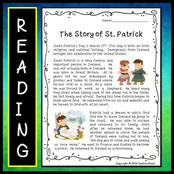 St. Patrick's Day BUNDLE (Reading Unit & Word Wall)