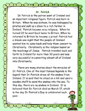 The Story of St. Patrick Text Evidence Activity