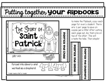The Story of St. Patrick {a nonfiction ebook,  flip book, and activities}