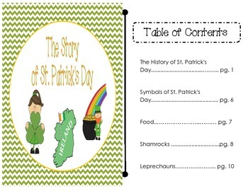 The Story of St. Patrick's Day - nonfiction student reader with text features