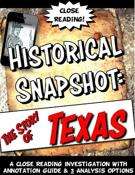 The Story of Texas Historical Snapshot Reading